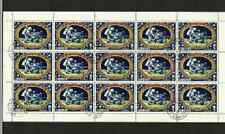 LIBERIA POSTAGE SHEET - APOLLO 14 MOON LANDING - LUNAR CAR - 1971 USED STAMPS