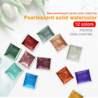 Metallic Glitter Art Supplies For Artists Watercolor Paint Set