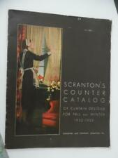1932 Scranton Lace Company Counter Catalog of Curtains Window Coverings Vintage