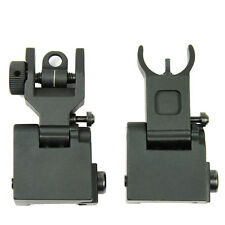 New Style Hunt Tactical Flip Up Rapid Transition Front and Rear Iron Sight Set