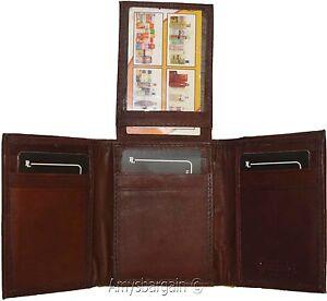 Men's Wallet,1 Center piece Trifold, Men's 2 billfold 2 ID 9 card Trifold wallet