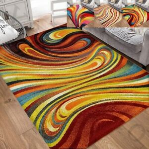 Colorful Rainbow Area Rug for Living Room Decor Rug Trends Multi Modern Abstract