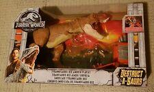 JURASSIC WORLD Destruct-A-Saurs Tyrannosaurus Rex Ambush Playset ~ IN HAND