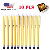 10x Gold Universal Stylus Touch Screen Pen for Tablet Phone iPod-iPad PC