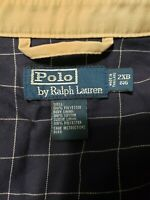 RALPH LAUREN POLO COTTON TWILL LINED  MENS FULL ZIP COAT JACKET 2xb