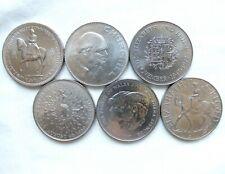 More details for six elizabeth ii crowns - 1953, 1965, 1972, 1977, 1980, 1981 - free postage (x04