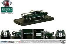M64 11228 34 M2 MACHINES AUTO DRIVERS 1966 FORD SHELBY MUSTANG GT350 GREEN 1:64
