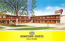 Salem Oregon 1950-60s Postcard Downtown Courtel Motel