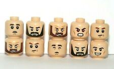 Lego 10 Flesh Heads Head For Boy Man Minifigure Some Reversible