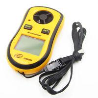 Digital LCD Smart Anemometer Air Velocity Wind Speed Gauge Meter NTC Thermometer