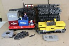 PLAYMOBIL 5258 PM CARGO 04-0 LOCOMOTIVE & CONTAINER WAGON SET pe