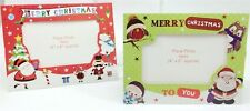 8 Christmas Cute Photo Frame Personalised Card Envelope Family Picture Red Green