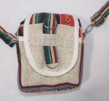 Fair Trade Hemp Passport Shoulder Bag Boho Hippy Festival Ethnic Hippie New