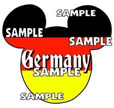 Disney Epcot Germany Mickey Ears Scrapbook Paper Die Cut Embellishment Piece