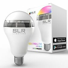 LED RGB Color Bulb Light E27 Bluetooth Control Smart Music Audio Speaker Lamps