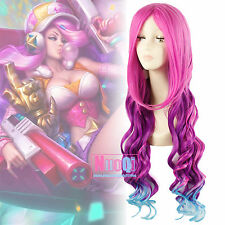 LOL Miss Fortune Bounty Hunter Arcade Colorful Long Wavy Cosplay Wig USA Ship