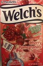 6 Boxes Welch's Cherry Pomegranate Singles Drink Mix 6 Count Each