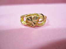 Vintage Gorgeous 14K all SOLID yellow Gold Heart RING Filigree sz 6.5 Ladies