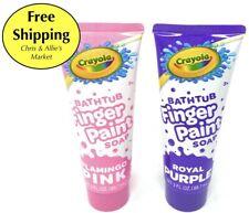 Crayola - Kids Bathtub FINGER PAINT Soap Tubes - Purple, Blue, Green, Pink, Red