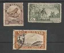 Nueva Zelanda 1935 8d,2 / - & 3 / - Fine Used GATO £ 125 mínimo
