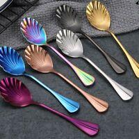 Tableware Upscale Utensils Ice Cream Scoops Coffee Tea Spoon Shell Stir