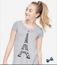 Justice Girls Size 12 Plus Paris Short Sleeve Swingy Tee NWT