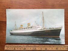 SS NIEUW AMSTERDAM Holland America Line Cruise Ship Dutch Ocean Liner Postcard