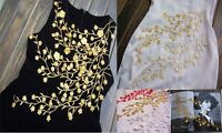 Fashion Embroidered Gold/Red/Silver Flower Patch iron on Applique Sew Dress