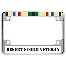 DESERT STORM VETERAN Military Metal Motorcycle License Plate Frame Tag