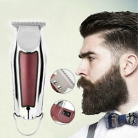 Pro USB Hair Clipper Trimmer Haircut Machine Barber Razor Shaver Kit For Men
