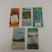 Vintage Lot of Highway Maps Mid-Century Travel Ephemera Brochures Illinois Iowa
