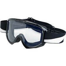 Biltwell Moto Goggles - ALL COLORS - Black Bolts Checkers Grey White & Lens