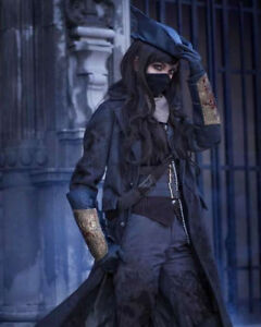Bloodborne Cosplay Costume Outfit Full Set The Hunter Black Cosplay Hat Jacket