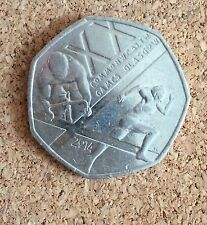 Glasgow 2014 Commonwealth Games 50p coin 2013 rare limited edition collectors