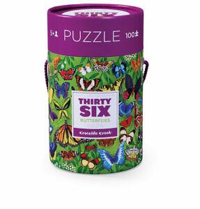 36 Animal Puzzle 100 pc - Butterflies by Crocodile Creek 5+