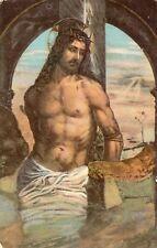 Jesus - Cristo Alla Colonna Religious Original Vintage Postcard 01.49
