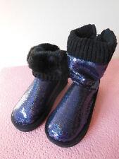 Victoria's Secret Pink Mukluk Fur Lined Boot Bootie Slipper Sequins Bling 5/6 BN