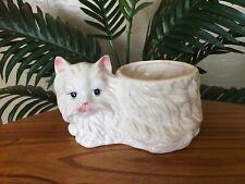 New listing Vintage White Persian Cat Porcelain Ceramic Planter Vase Figurine Statue