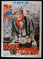 Werbeplakat Toto ' Dov'E 'Die Freiheit' Roberto Rosselini Molar Dover Fahad M68