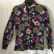 Vera Bradley Multi-Colored Floral Button Down Long Sleeve Shirt
