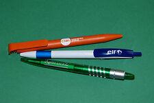3 STYLOS PUBLICITAIRES : CFDT, ELF & KRISS-LAURE / NEUFS