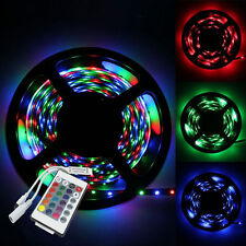 5M 3528 RGB Non Waterproof Strip 300 SMD LED Light + 24Key IR Remote Controller