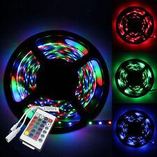 5M 3528 RGB Non Waterproof Strip 300 SMD LED Light + 24Key IR Remote Controller