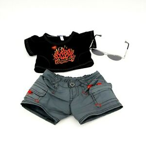 Build A Bear Legendary Outfit Clothes Shirt Pants Sun Glasses Cool Toy Collect