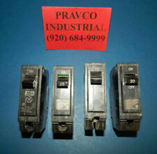 Lot of 4 General Electric THQB120 Circuit Breaker Single Pole 20Amp 120/240VAC