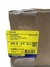 Square D Hdl36100 3 Pole 100 Amp 600 Vac Circuit Breaker
