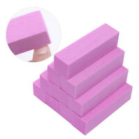 Pink White Sanding Sponge Nail Buffers Files Block Grinding Nail Art Tools DIY
