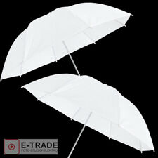 2x 83cm White Photo Studio UMBRELLA - diffuser - 2 PIECES -