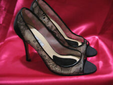 b93f99c19 NEW BRIAN ATWOOD BLACK SATIN LACE PEEP TOE PUMPS HEELS SANDALS CHOOSE 38 OR  39