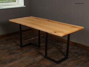 Massivholz Tischplatte Baumkante Massivholzplatte Eichenholz